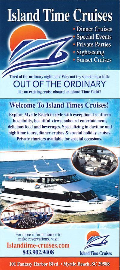Island Time Cruises Brochure Image