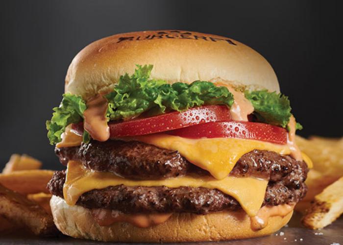 Juicy cheeseburger from Burger Fi