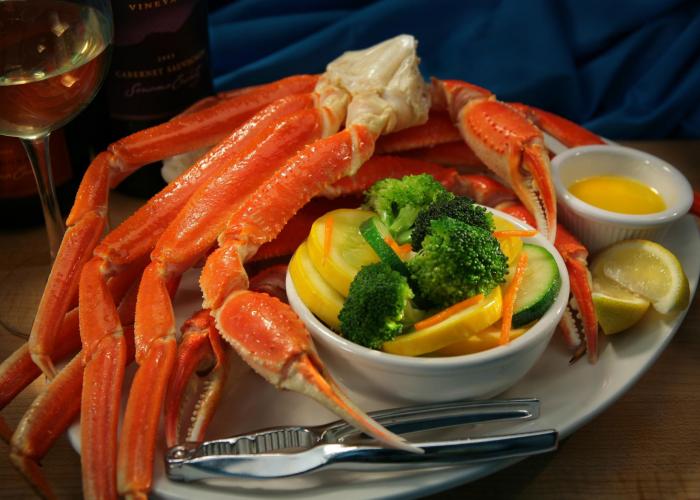 Snow crab legs from Captain Benjamin's Calabash Seafood