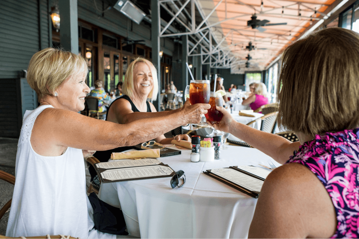 Ladies toasting at Greg Norman Australian Grille