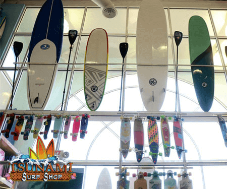 Surfboards at the Tsunami Surf Shop