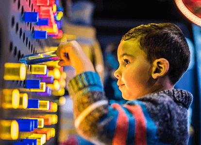 boy playing at Wonderworks