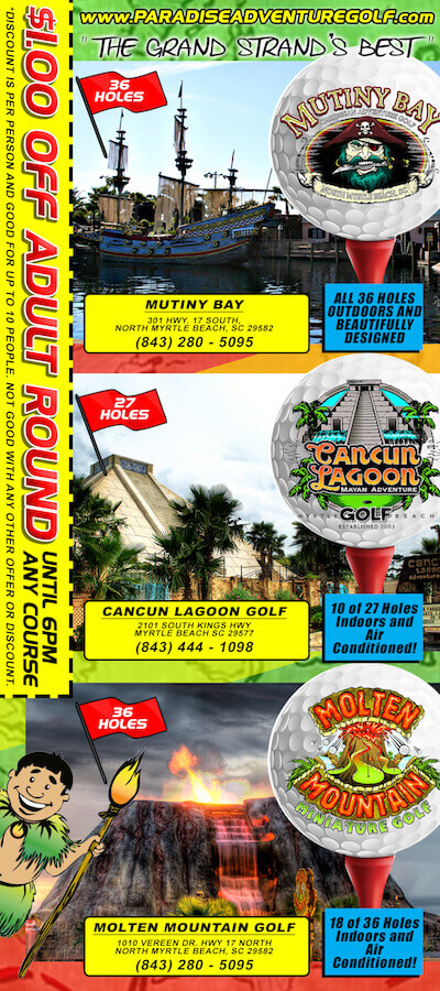 Paradise Adventure Golf Brochure Image