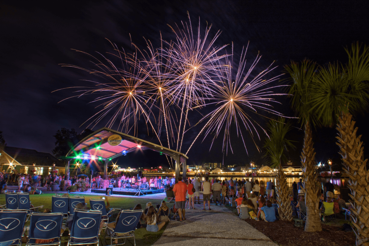 Fireworks show at Barefoot Landing - North Myrtle Beach
