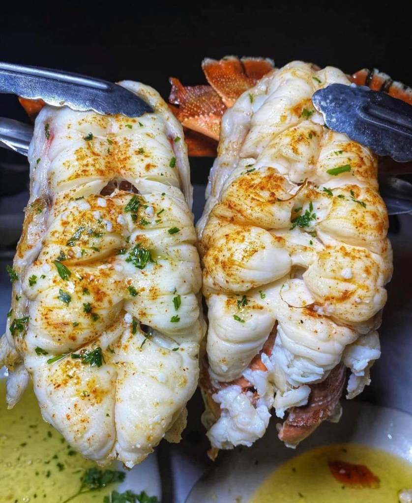 lobster tails from Crabby George's Seafood Buffet