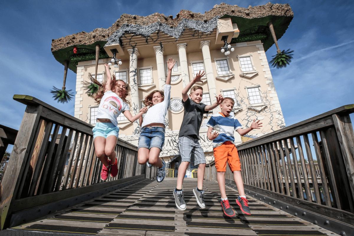 Children having fun at WonderWorks educational park