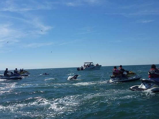 group riding jet skis - Myrtle Beach Watersports