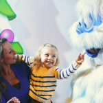 Dollywood Abominable Snowman Snow Globe and Holly Jolly Junction