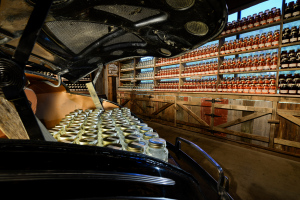 Ole Smoky Distillery Moonshine in Car