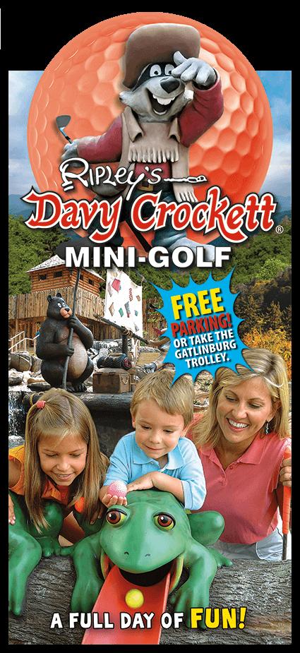 Ripley's Davy Crockett Mini-Golf Brochure Image