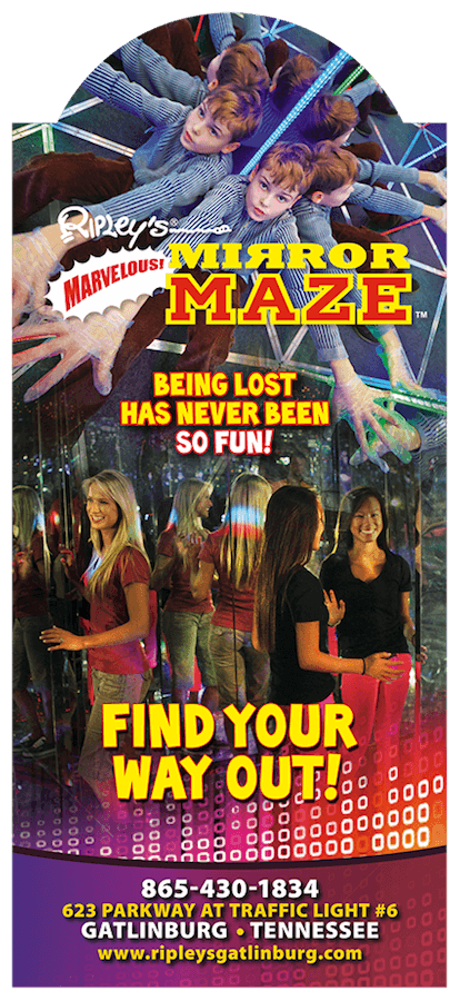 Ripley's Marvelous Mirror Maze & Ripley's Candy Factory Brochure Image