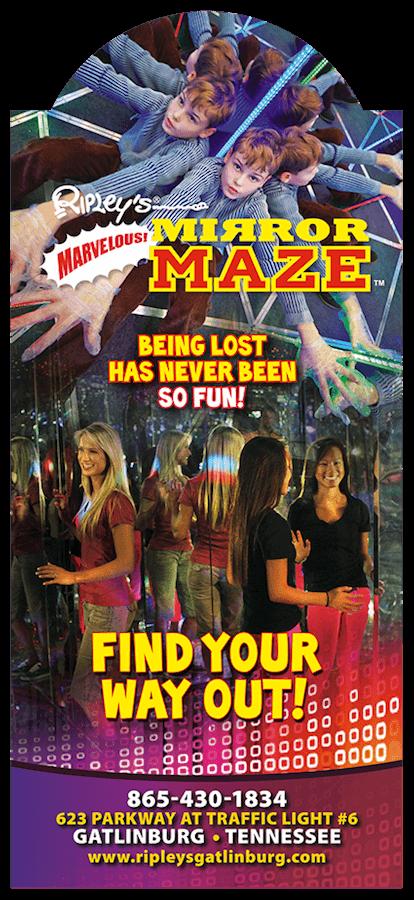 Ripley's Marvelous Mirror Maze & Ripley's Candy Factory Brochure Image