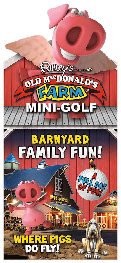 Ripley's Old MacDonald's Farm Mini-Golf Brochure Image
