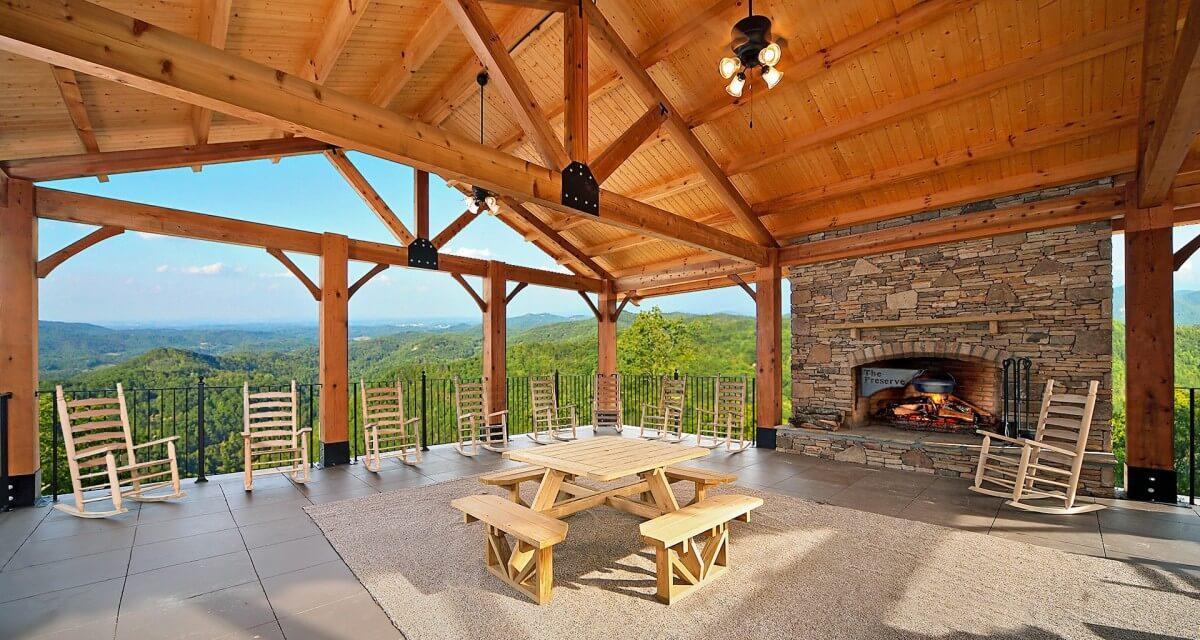 HearthSide Cabin Rentals Amenities Deck