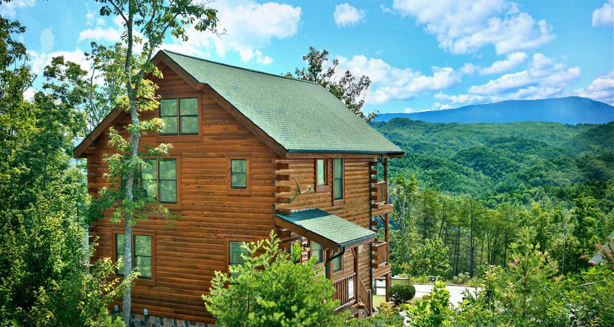 Hearthside Cabin Rentals Back of Cabin