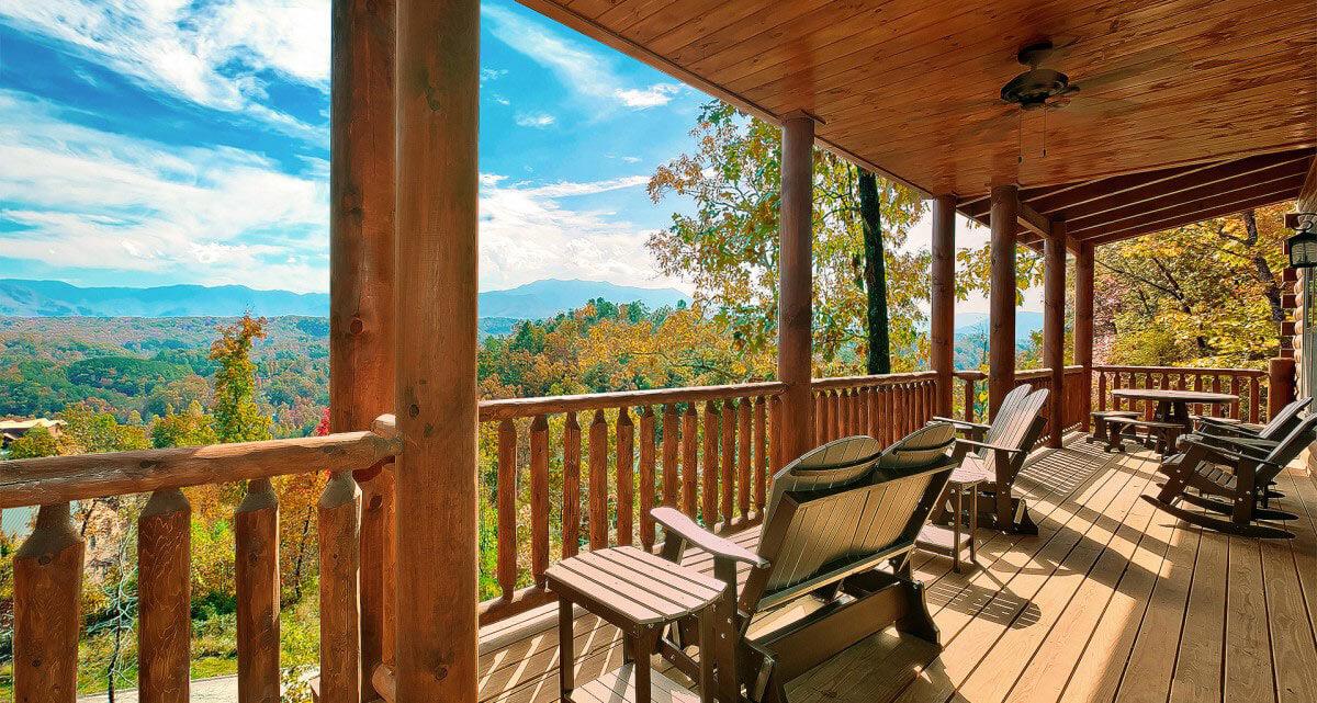 Hearthside Cabin Rentals Deck View