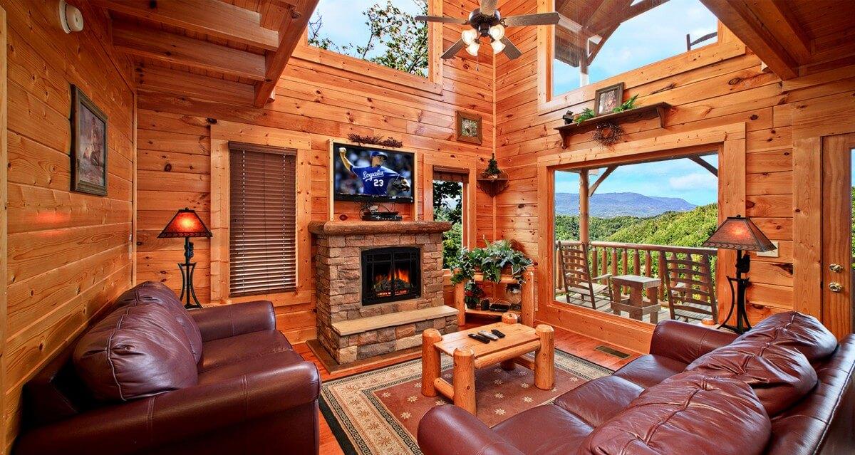 Hearthside Cabin Rentals Fireplace