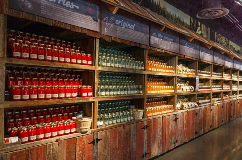 Ole Smoky Distillery Bottled Moonshine Shelves