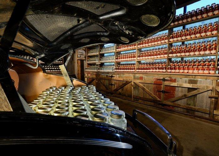 Ole Smoky Distillery Moonshine in Car
