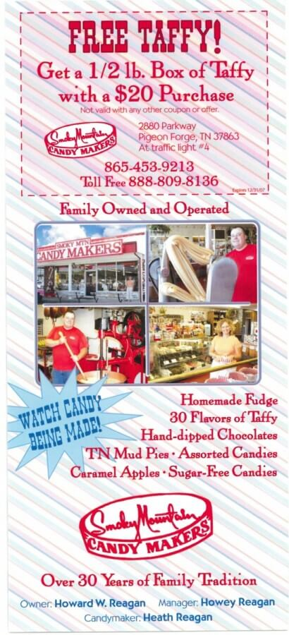 Smoky Mountain Candy Makers Brochure Image