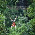 Foxfire Mountain Zip Lines Hanging Upside Down
