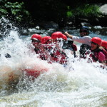 Smoky Mountain Outdoors Whitewater Rafting Hitting Rapids