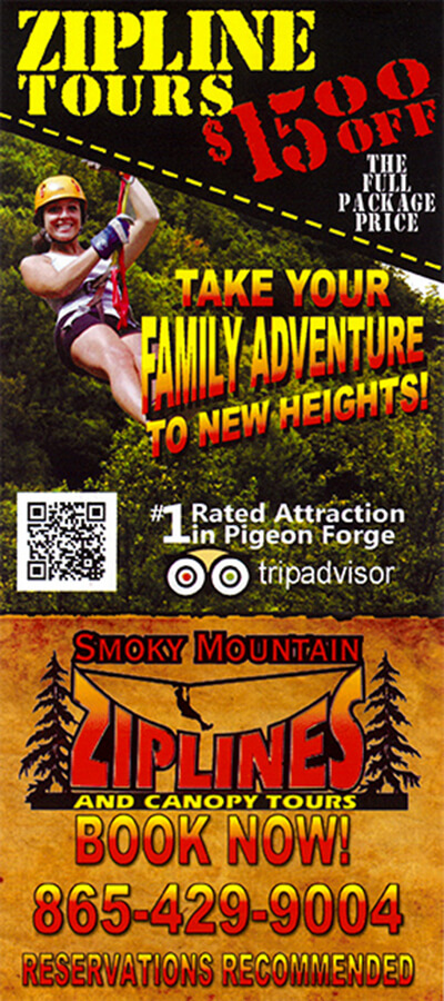 Smoky Mountain Ziplines Brochure Image