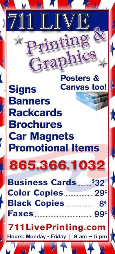 711 Live Printing Brochure Image