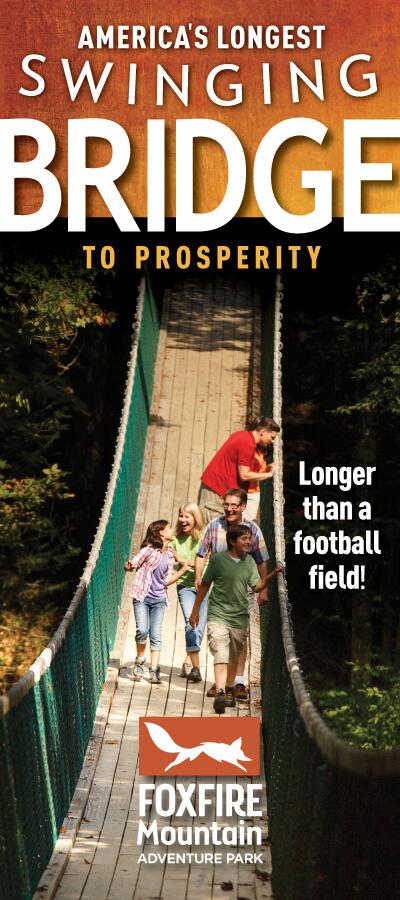 America's Longest Swinging Bridge Brochure Image