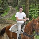 Smoky Mountain Riding Stables Man Riding