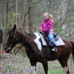 Smoky Mountain Riding Stables Girl Riding