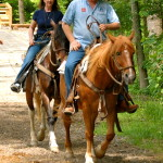 Smoky Mountain Riding Stables Two People Riding