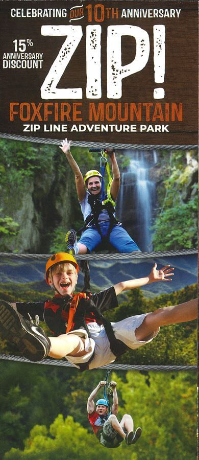Foxfire Mountain Adventure Park Brochure Image