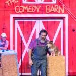 Comedy Barn Man and Dog