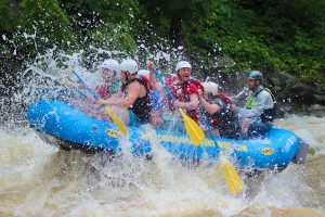 Outdoor Adventures Rafting Getting Splashed