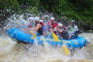 Outdoor Adventures Rafting Getting Splashed