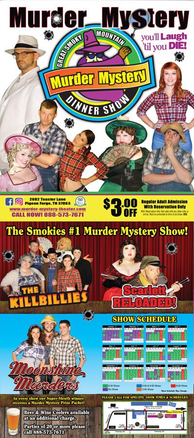 Murder Mystery Dinner Show Brochure Image