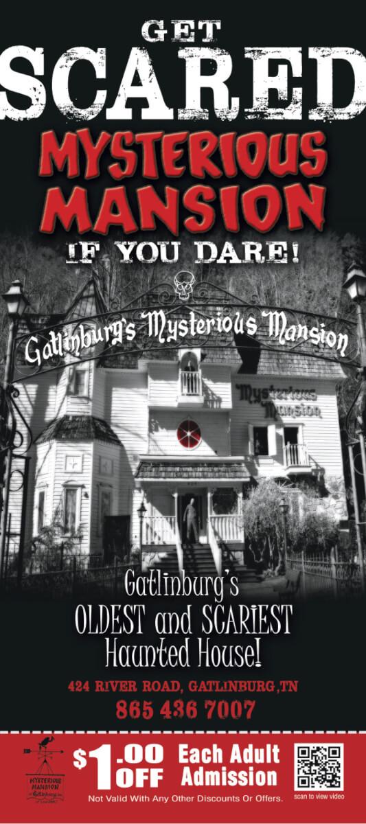 Gatlinburg Mysterious Mansion Brochure Image