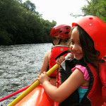 Smoky Mountain Outdoors Whitewater Rafting Smiling Girl
