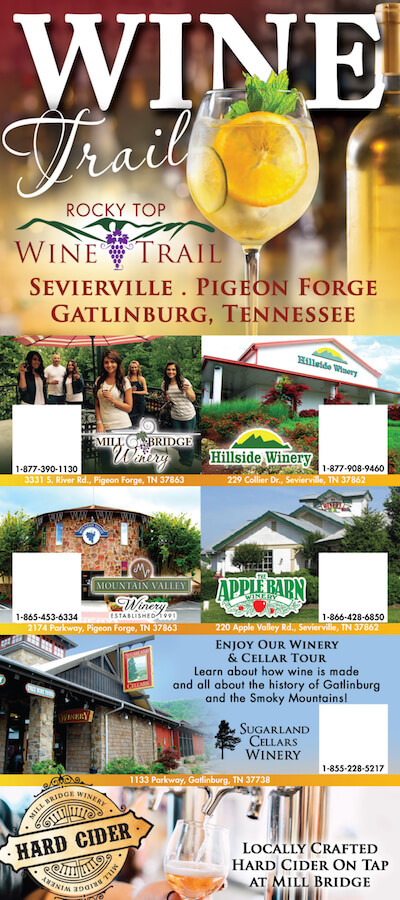 Rocky Top Wine Trail Brochure Image