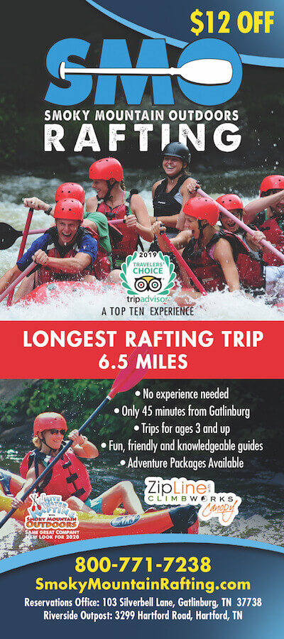 Smoky Mountain Outdoors Whitewater Rafting Brochure Image