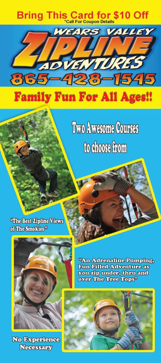 Wears Valley Zipline Adventures Brochure Image