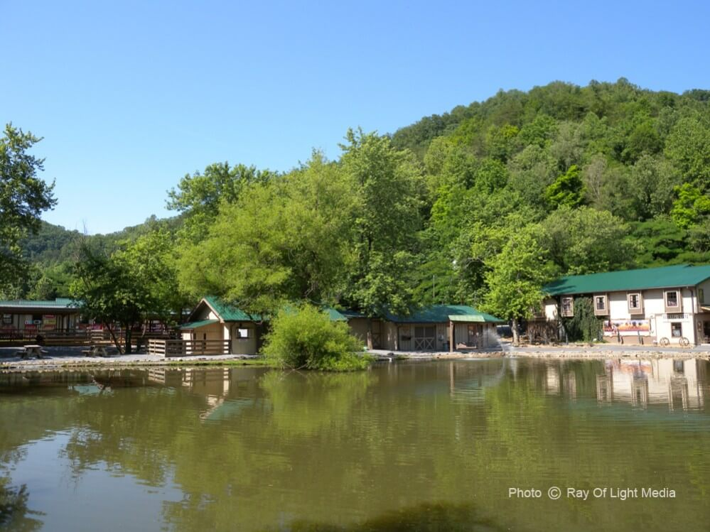 Big Rock Dude Ranch Large Pond and Buildings