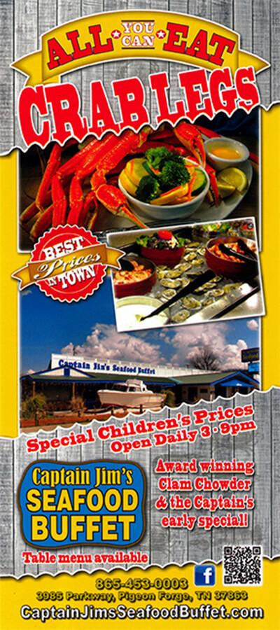 Captain Jim's Seafood Buffet Brochure Image