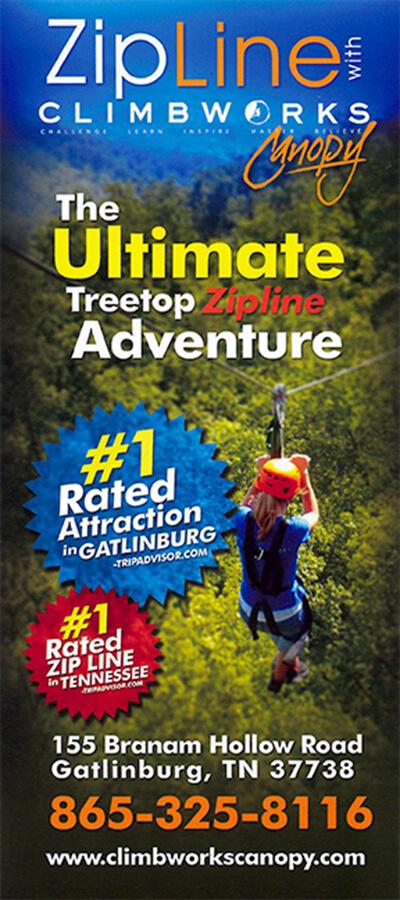 Climbworks Ultimate Treetop Zipline Gatlinburg TN
