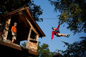 Foxfire Mountain Zip Lines Almost Done