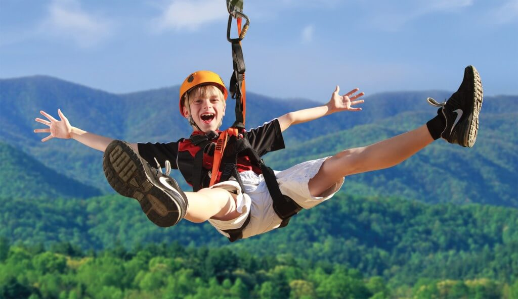 Foxfire Mountain Zip Lines Kids on Mountain