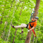 Foxfire Mountain Zip Lines Through Green Trees