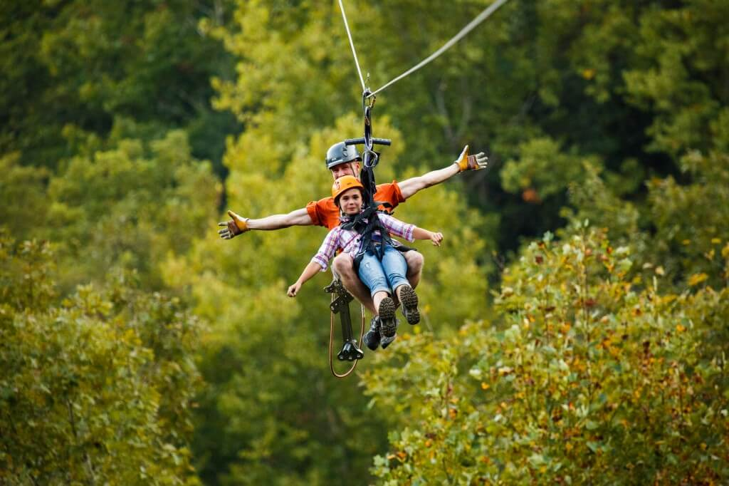 Foxfire Mountain Zip Lines Two People Ziplining