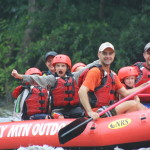 Smoky Mountain Outdoors Whitewater Rafting Boy Victory Yell